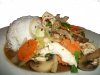5. Khao Rad Na Khai (Steamed rice and chicken breast) - $8.45